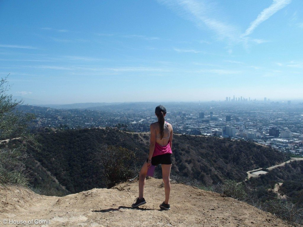 Runyon Canyon Must Do Hike in Los Angeles - Wearing a Lululemon Top Fashion Blogger Los Angeles