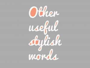 Other-useful-stylish-words
