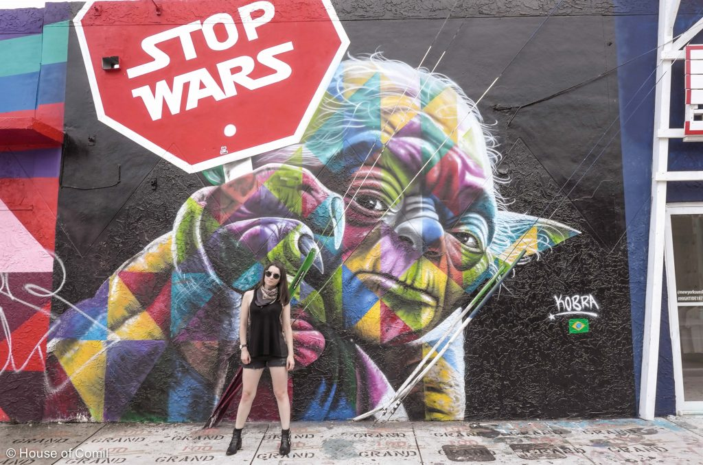 Stop + War + Yoda + Eduardo + Kobra + Art district + Miami + Wynwood + Art District + Street-art + Street + art + Los Angeles + Lablogger + style + blogger + fashion + inspiration + house of comil + lifestyle + houseofcomil + French + la blogger + mural + wall