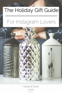 The Holiday Gift Guide for Instagram Lovers on Houseofcomil.com. From home decor, candles, watches, online courses, and neo-classic luxury accessories: all the items currently trendy on Instagram. Click to read more or pin to save for later.