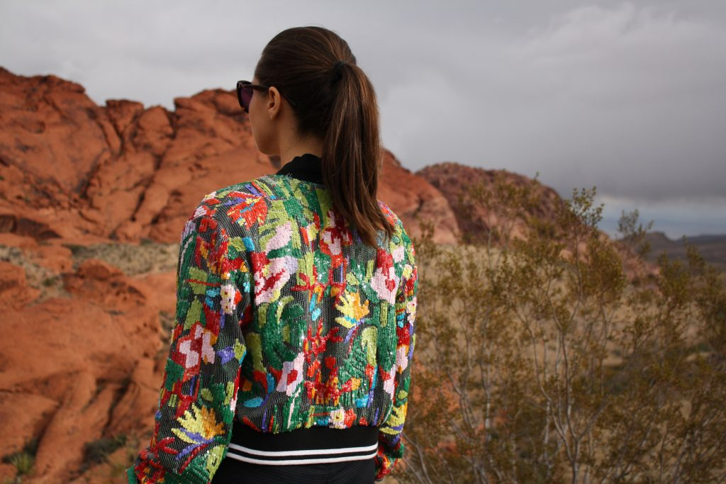ott + bomber + sequins + tropical + las vegas + red rocks + Los Angeles + Lablogger + style + blogger + fashion + inspiration + house of comil + lifestyle + houseofcomil + French + designer + emerging + ootd + look + outfit + luxury + la blogger + best + of day + style blogger + fashion blogger + look
