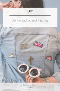 DIY: How to upgrade your denim jacket with trendy patches. Click to read more on Houseofcomil.com or pin to save for later.