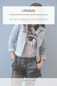 What to wear at the museum: kenzo tee shirt eye and a leather shorts from rag & bone. Click to read more on Houseofcomil.com or pin to save for later.