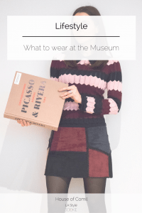 What to wear at the museum: Sandro Genny Jumper and a patchwork faux suede a line skirt. Click to read more on Houseofcomil.com or pin to save for later.