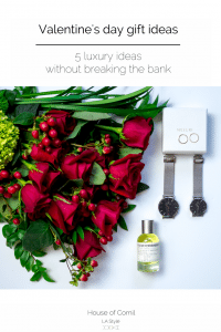 A luxurious valentine's day gift guide that doesn't break the bank: jewels wint Mejuri, flowers with Bouquet Bar, fine perfume with Le Labo and lingerie with Maison Lejaby. Now on Houseofcomil.com.