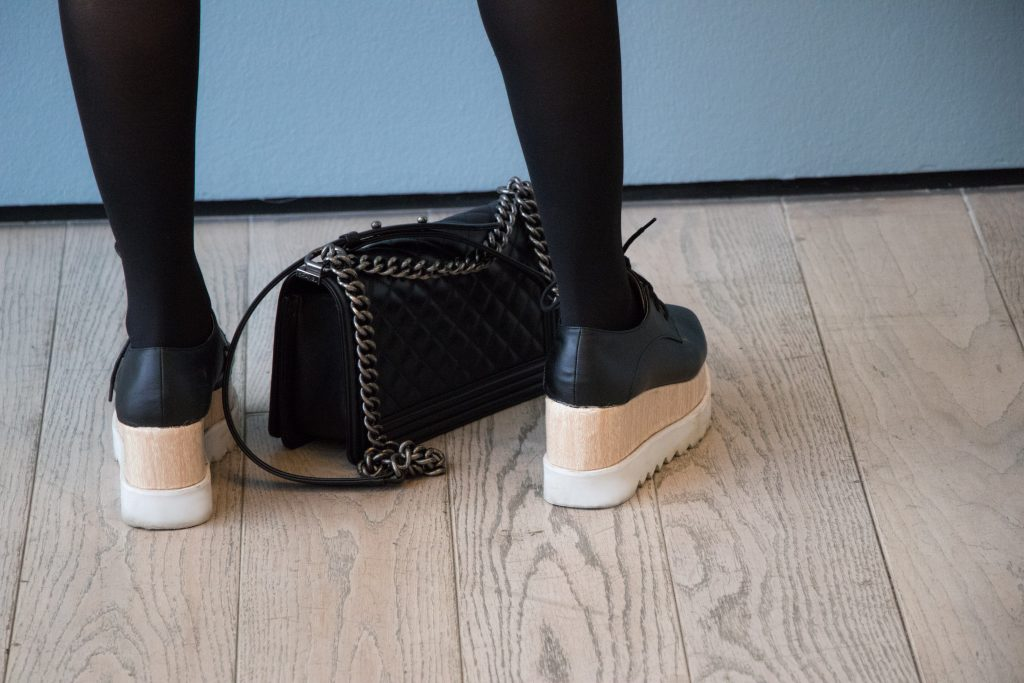 LACMA + stella mc cartney + oxford + platform + shoes + black + leather + windsor store + dupe + Stella Mccartney Platform Oxford + Lablogger + style + blogger + fashion + inspiration + house of comil + lifestyle + houseofcomil + look + outfit + la blogger + blogger + fashion blogger