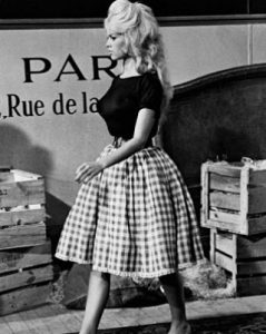 vichy + trend + spring + brigitte bardot + cute + skirt + effortless chic + french style + icon