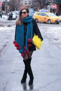 NYFW + new york fashion week + Street style + best of + new york + winter style + outfit + inuikii + michael kors + maje + over the knee + boots + pompom +scarf + rag and bone + fashion blogger + style blogger + julia comil + house of comil + la blogger + french blogger