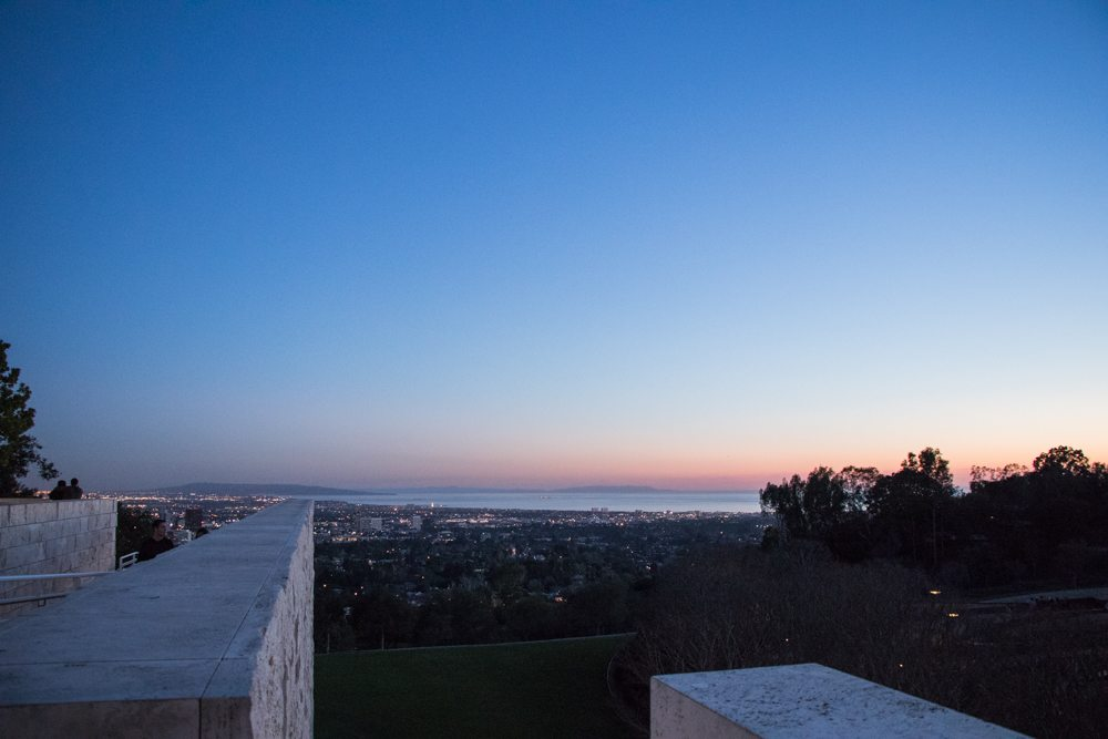 getty center + sunset + style blogger