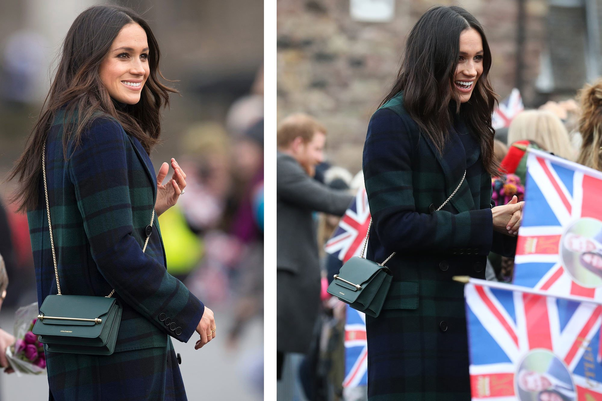 Meghan Markle East / West Green Strathberry Bag - Credit: Strathberry
