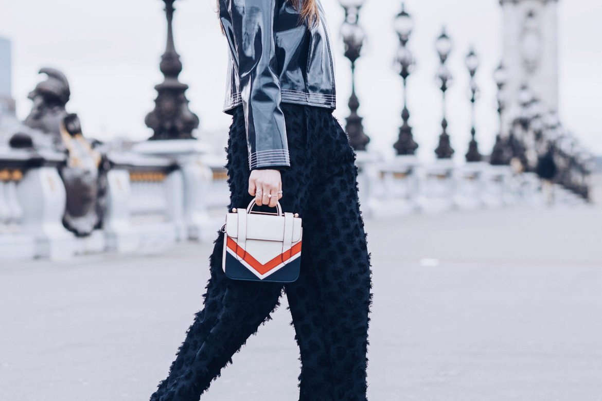 Strathberry Review Spring Summer Collection MC Nano Chevron Bag worn during Paris Fashion Week Street Style by Julia Comil