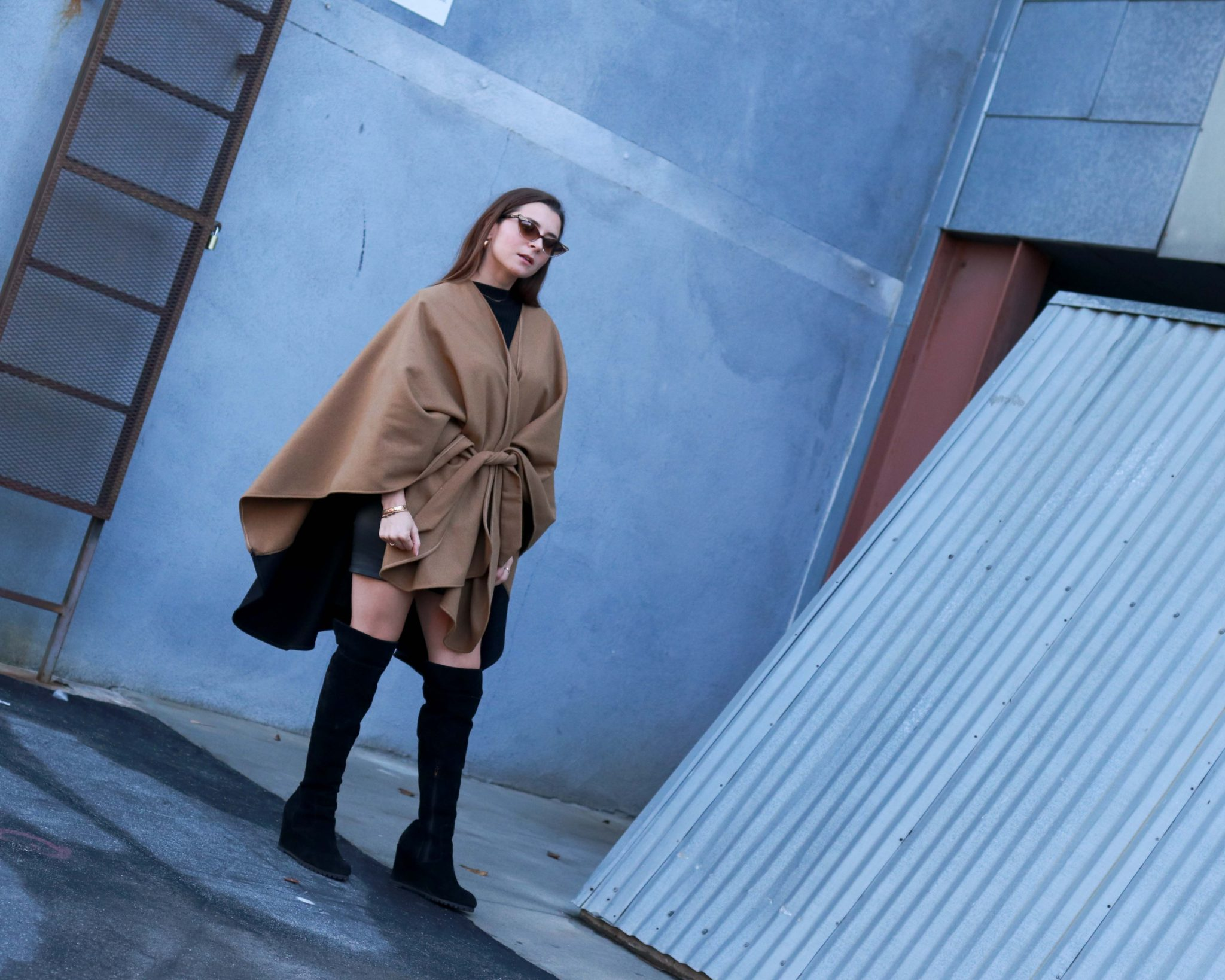 Donni Beige Cape: Swap your beige coat for a beige cape - Donni Shop Review and Donni Coupon Code