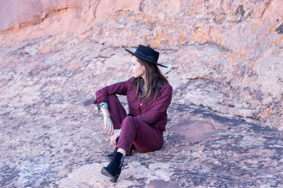 Fabric Hunted and Collected Jumpsuit - The Billie - ETHICAL FASHION - ARCHES - From Las Vegas to Moab: 5 tips for your road trip: Bryce Canyon, Arches National Park, Canyonlands national park