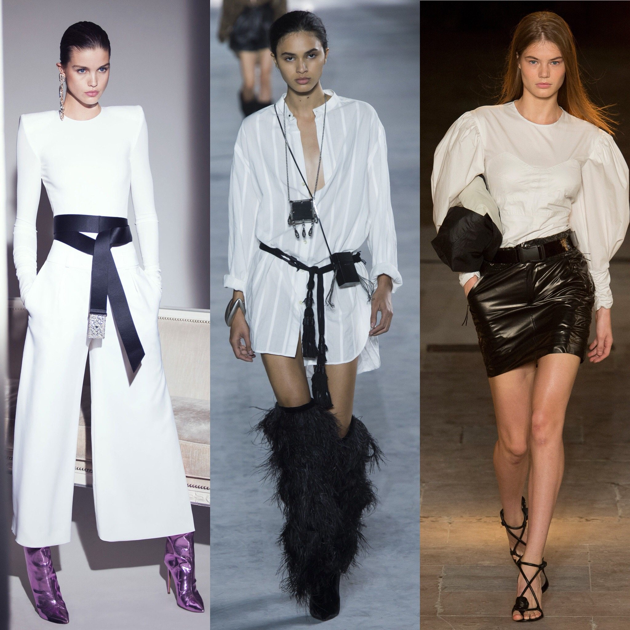 Spring 2018 Trends: Fashion Week coverage - Black and White - Alexandre Vauthier - Saint Laurent - Isabel Marant. More on Houseofcomil.com. Pictures from Vogue