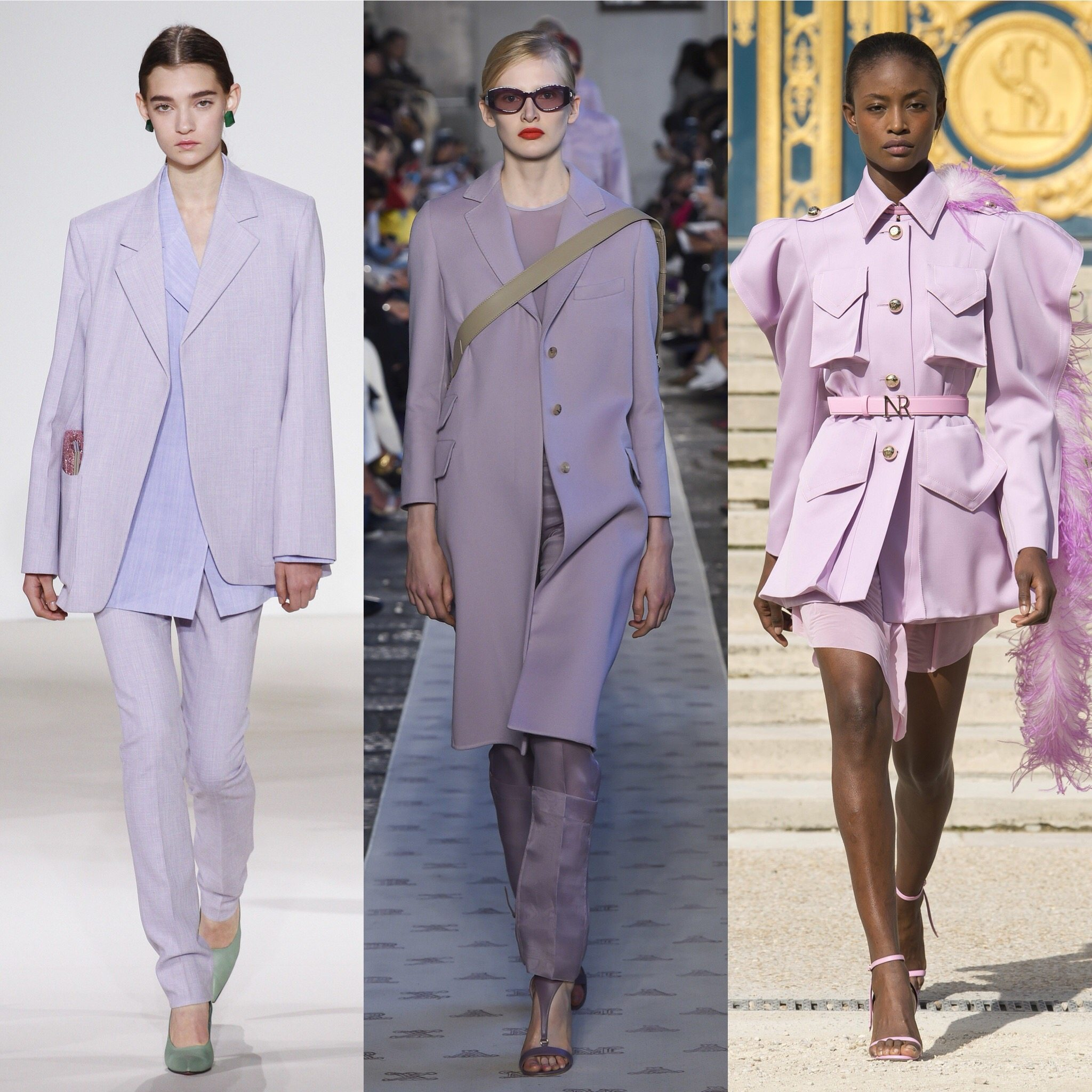 Spring 2018 Trends: Fashion Week coverage - Mauve Monochrome - Victoria Beckham - Max Mara - Nina Ricci. More on Houseofcomil.com. Pictures from Vogue