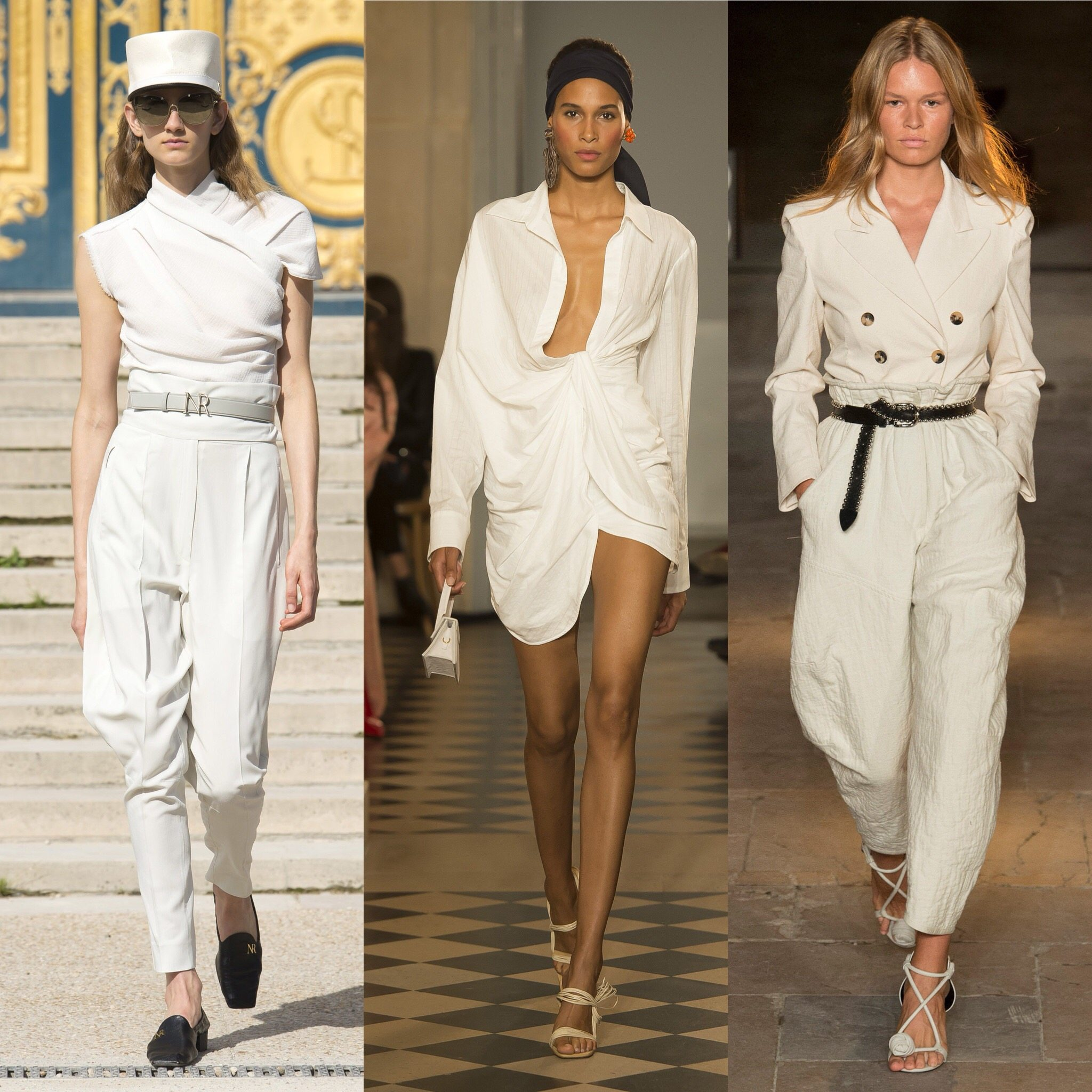 Spring 2018 Trends: Fashion Week coverage - White Monochrome - Nina Ricci - Jacquemus Isabel Marant. More on Houseofcomil.com. Pictures from Vogue