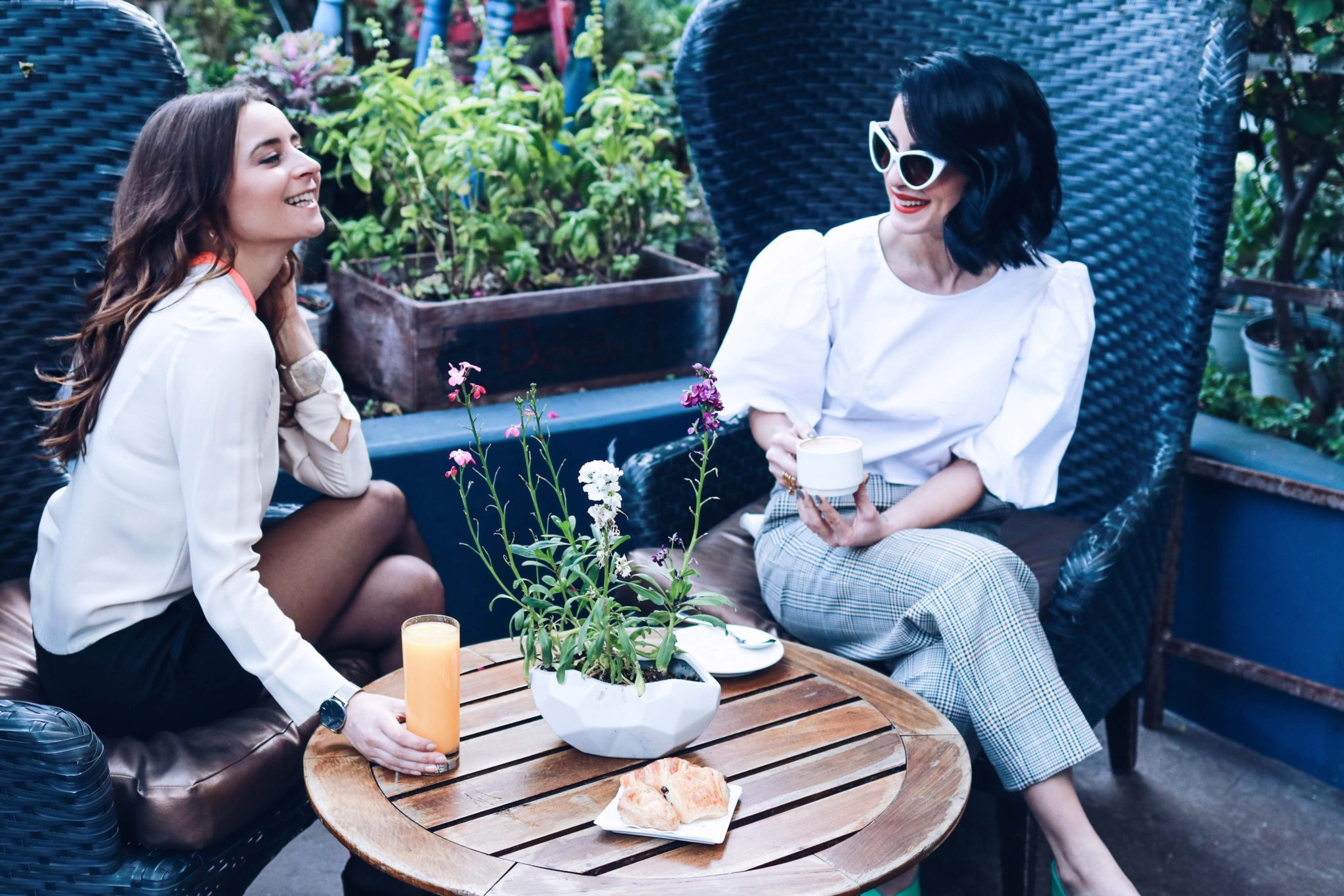 Best Brunch Place in LA: Sofitel Los Angeles at Beverly Hills: A French Brunch in an intimate patio - Galentine's day idea in Los Angeles