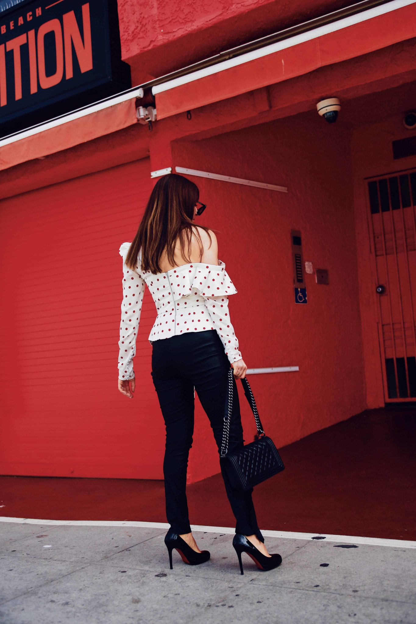 Evening tops: Statement blouse by Self Portrait via If Chic - More about this polka dots blouse on Houseofcomil.com