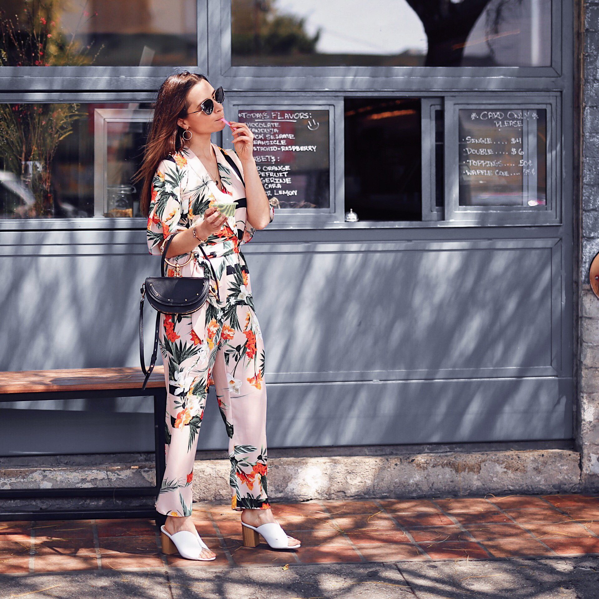 Floral Kimono jumpsuit by river island