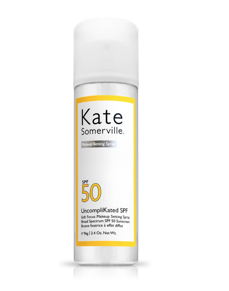 Discover the Best SPF setting spray: makeup setting spray with Kate Somerville, organic sunscreen spray with Coola, face setting mist with Supergoop - more on modersvp.com. On this picture: Coola Organic SPF 30 Makeup Setting Sunscreen Spray