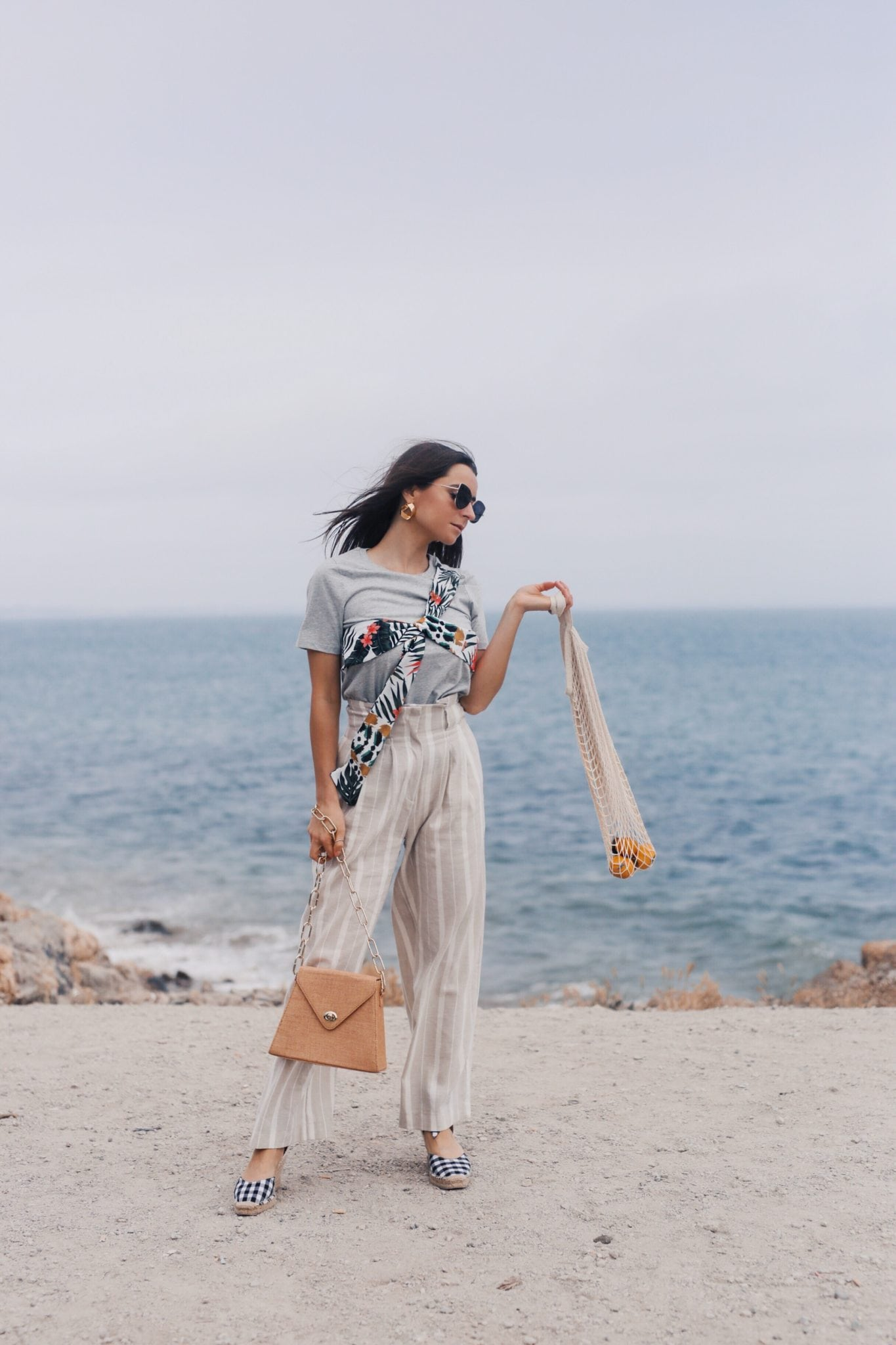 How to style linen - The linen pants for work and the bardot dress. Summer style - Read this post for summer outfit ideas using linen fabric. More on modersvp.com