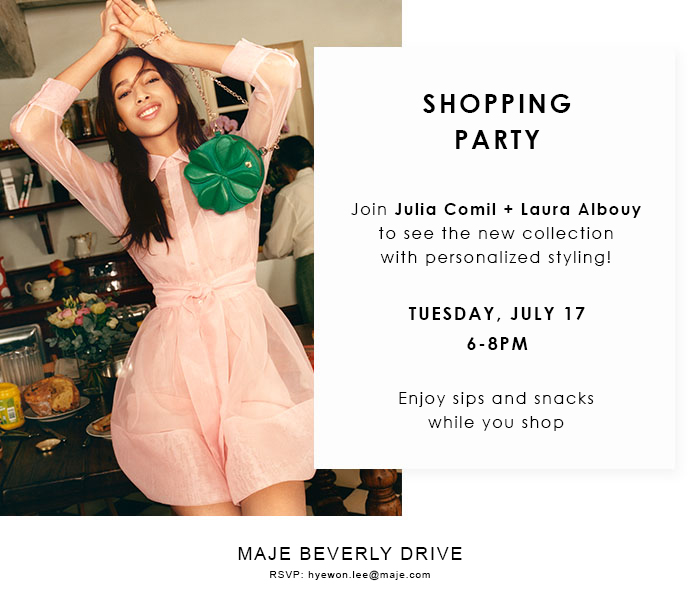 Maje Shopping Party at Maje Beverly Drive in Beverly Hills with French Fashion Bloggers Julia Comil and Laura Albouy