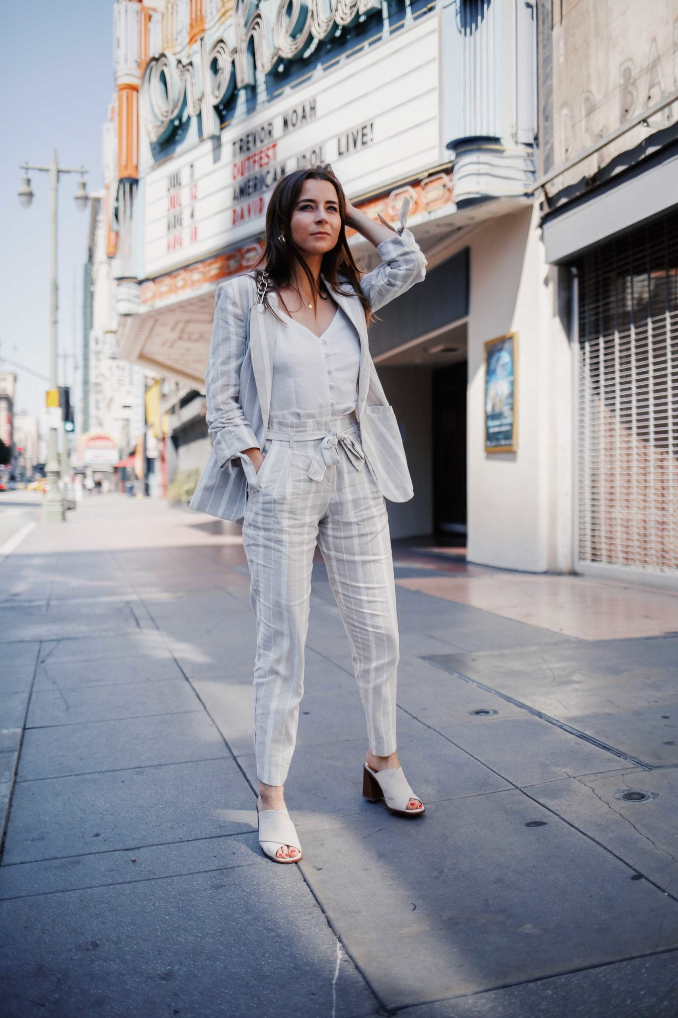 fd147c2d9f ... How to style linen for Summer - The linen suits for work and the bardot  dress ...