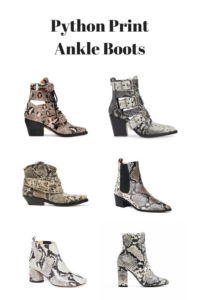 Best python ankle boots on Best snakeskin boots fall winter 2020: Longchamp bag and Snake prints ankle boots from Pour La Victoire - How to wear the snakeskin ankle boots this fall - More on Modersvp.com. Luxury and Affordable selection