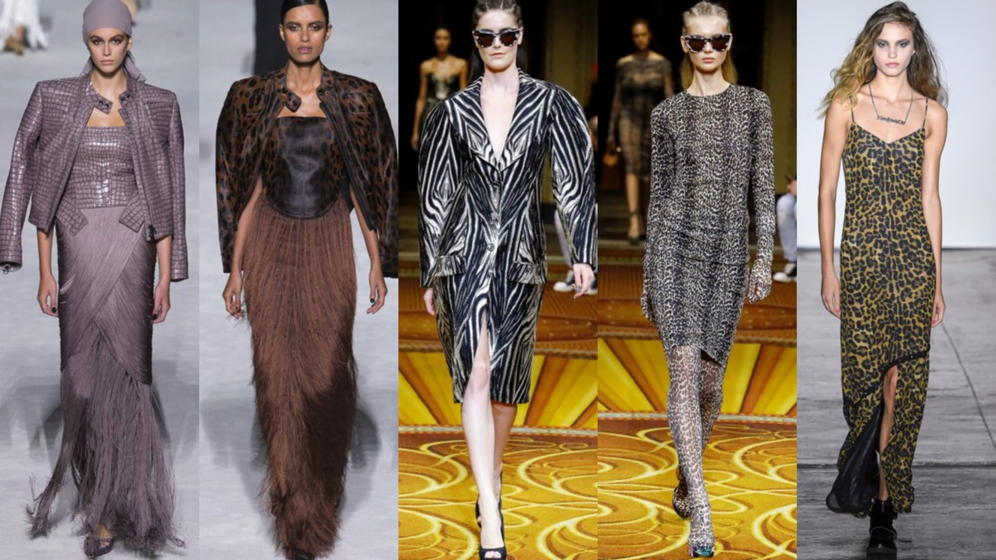 leopard print snake print zebra print - animal print september 2018 NYFW Tom Ford runway Nicole Miller runway Christian Siriano runway style spring 2019 - september 2018 - Vogue
