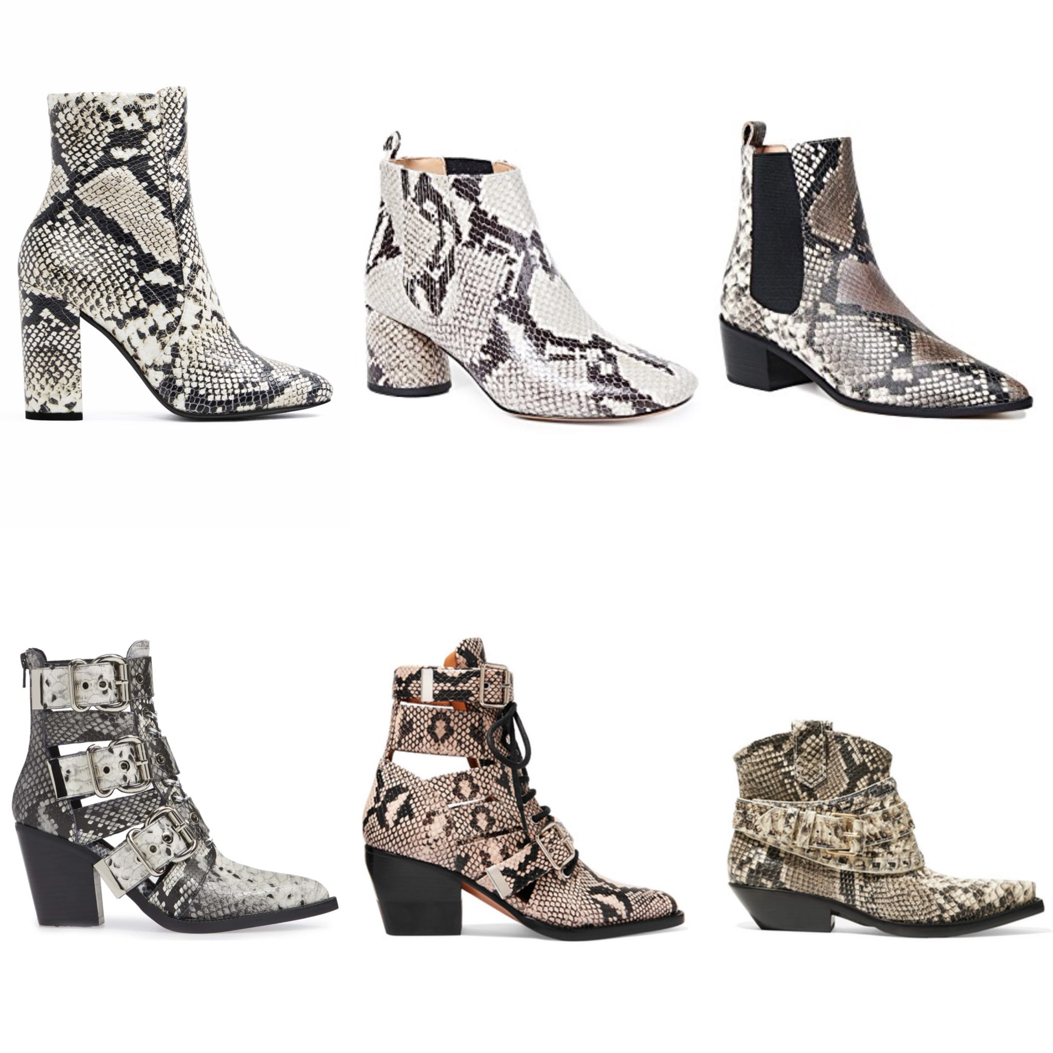 Best snakeskin ankle boots on Modersvp.com. Luxury and Affordable selection