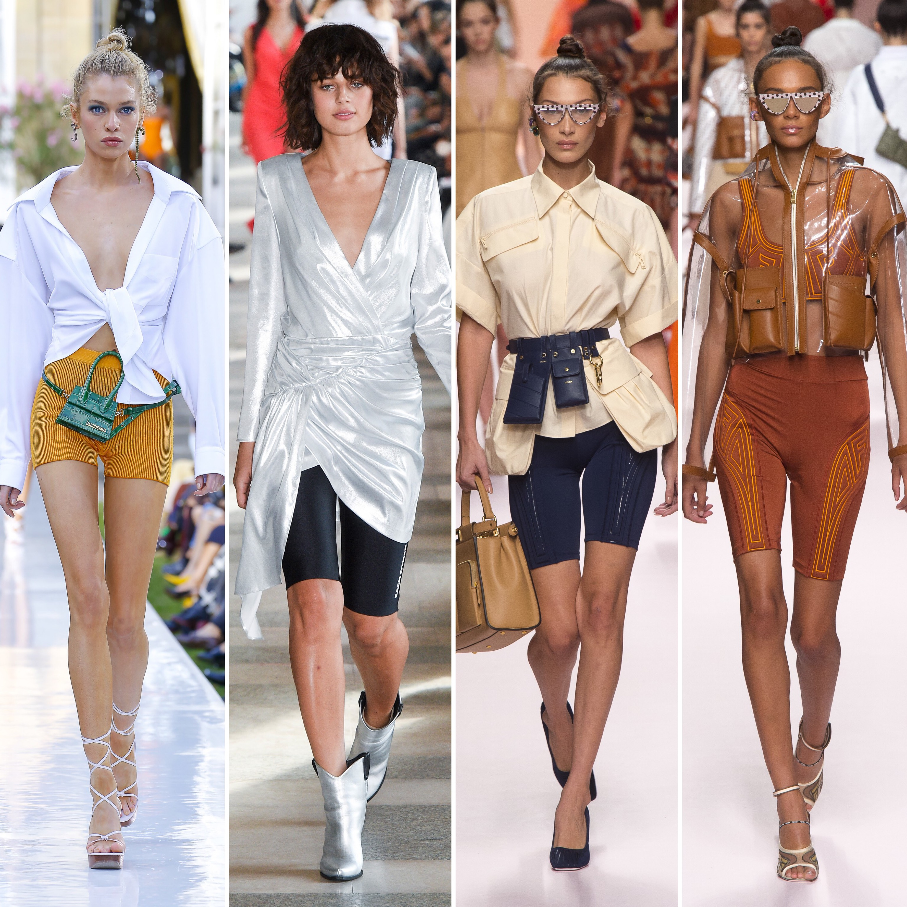 The 90's iconic bike shorts are making their comeback. And they are actually flattering. Find some tips to know how to wear the cycling shorts in 2019. By Julia Comil Fashion Blogger