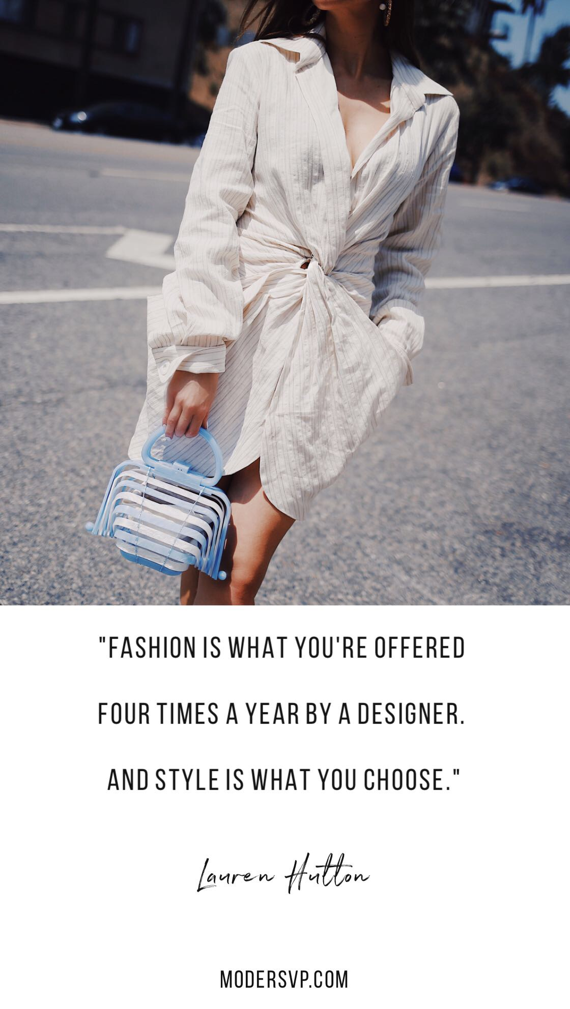 "Best Style quotes - Inspirational Fashion Quotes - ""FASHION IS WHAT YOU'RE OFFERED FOUR TIMES A YEAR BY A DESIGNER.And style is what you choose."" Lauren Hutton - Read more style quotes from Anna Wintour, Diane Von Furstenberg, Coco Chanel and other fashion designers and style icons on Houseofcomil.com"