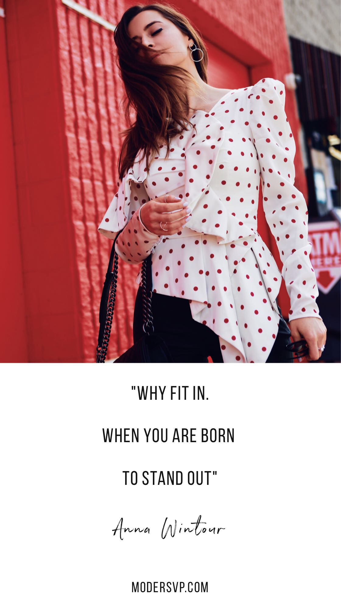 "Best Style quotes - Inspirational Fashion Quotes - ""Why Fit In. When you are born to stand out"" Anna Wintour - Read more style quotes from Anna Wintour, Diane Von Furstenberg, Coco Chanel and other fashion designers and style icons on Houseofcomil.com"