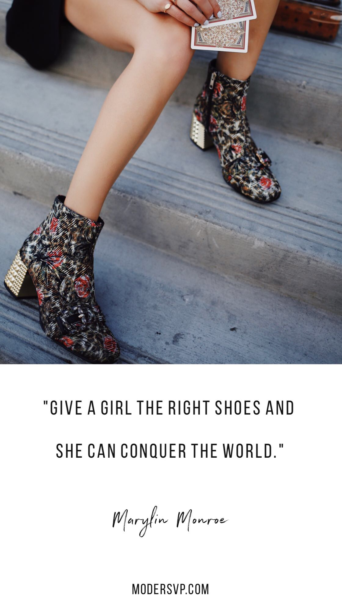 "Best Style quotes - Inspirational Fashion Quotes -""Give a girl the right shoes and she can conquer the world."" Marylin Monroe - Read more style quotes from Anna Wintour, Diane Von Furstenberg, Coco Chanel and other fashion designers and style icons on Houseofcomil.com"