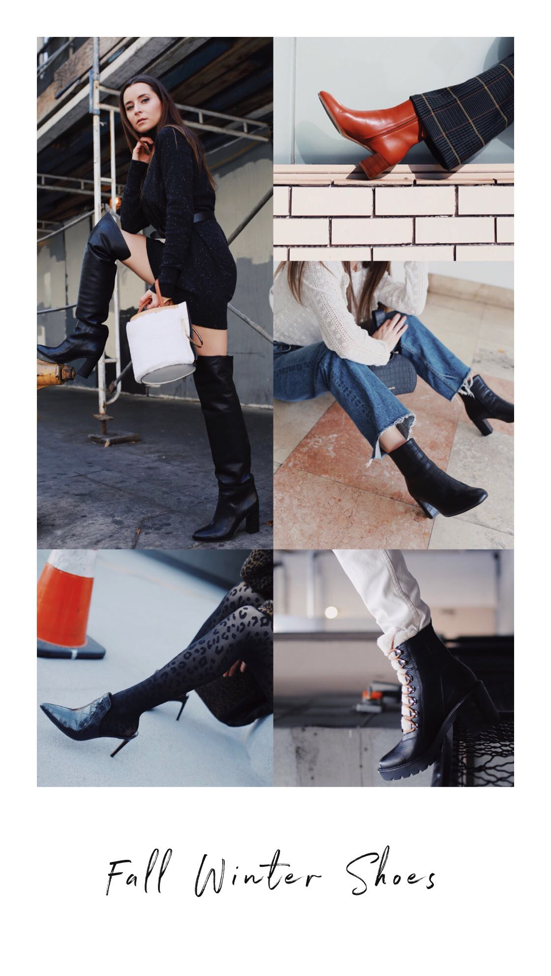 5 best Fall Winter 2018 shoes and boots trends: western boots, combat boots, loose boots, animal print shoes, dad sneakers.