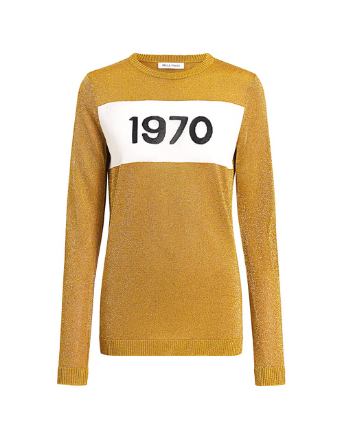Best designer sweaters. Make an impact with a designer sweater. Find your designer sweater to be cozy and stylish this Winter. If Chic Bella Freud 1970 metallic sweater gold
