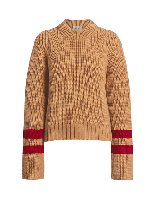 Best designer sweaters. Make an impact with a designer sweater. Find your designer sweater to be cozy and stylish this Winter. IF Chic BAUM UND PFERDGARTEN | CLOVE STRIPE TRIM SWEATER
