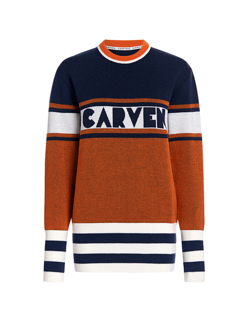 Best designer sweaters. Make an impact with a designer sweater. Find your designer sweater to be cozy and stylish this Winter. If Chic Carven color block striped sweater orange