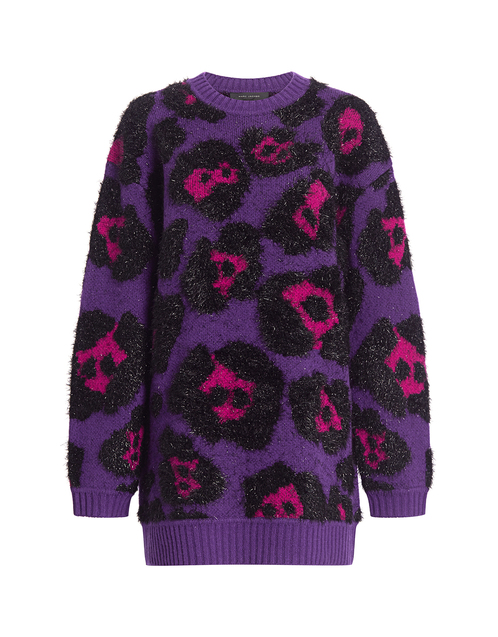 Best designer sweaters. Make an impact with a designer sweater. Find your designer sweater to be cozy and stylish this Winter. IF CHIC Marc Jacobs leopard metallic tunic sweater purple multi