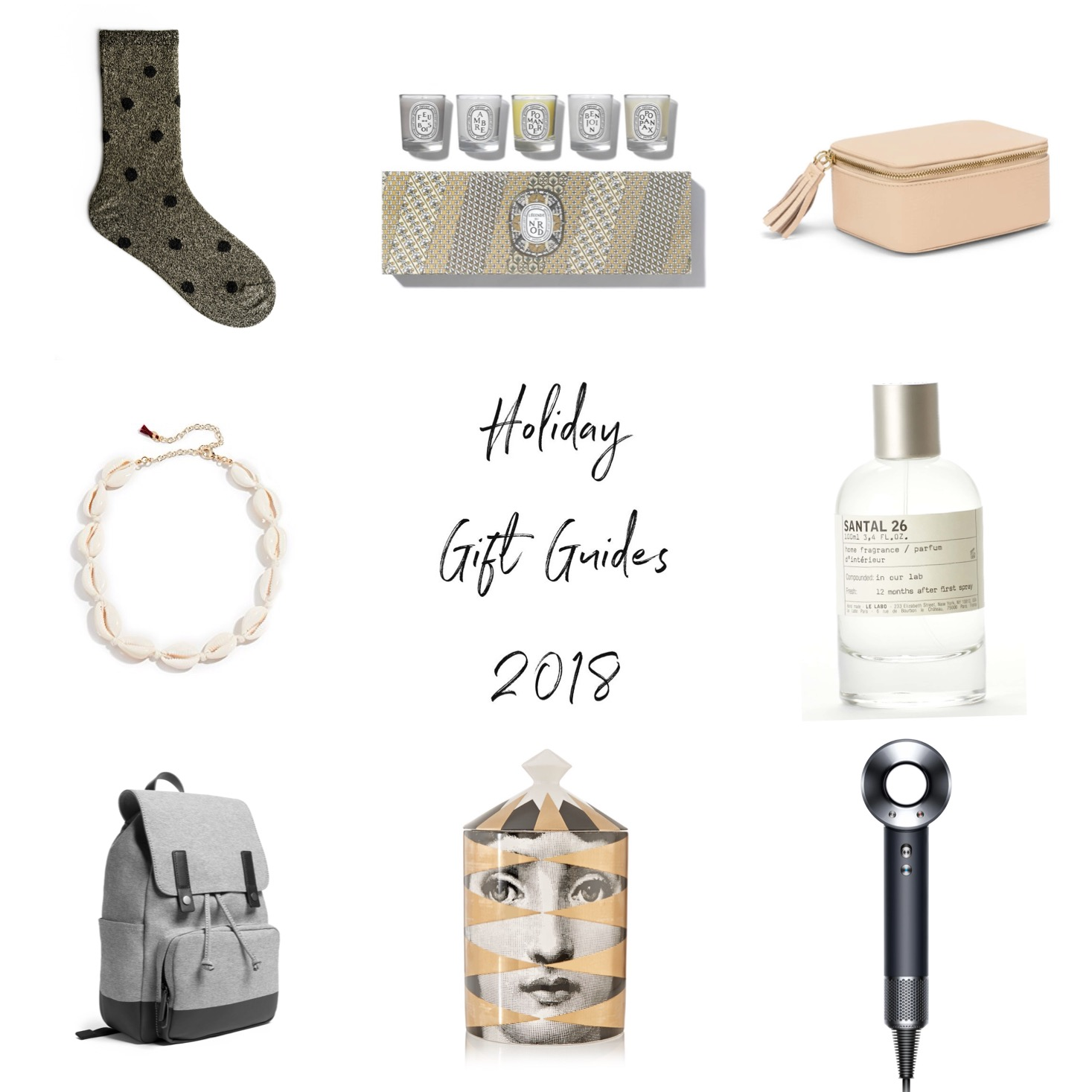 Holiday gift guides for women 2018, for men, beauty gift guide, jewelry gift guide under $80