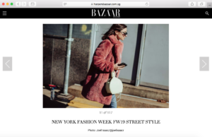 Julia Comil fashion influencer NYFW Harper's bazaar best street style press feature