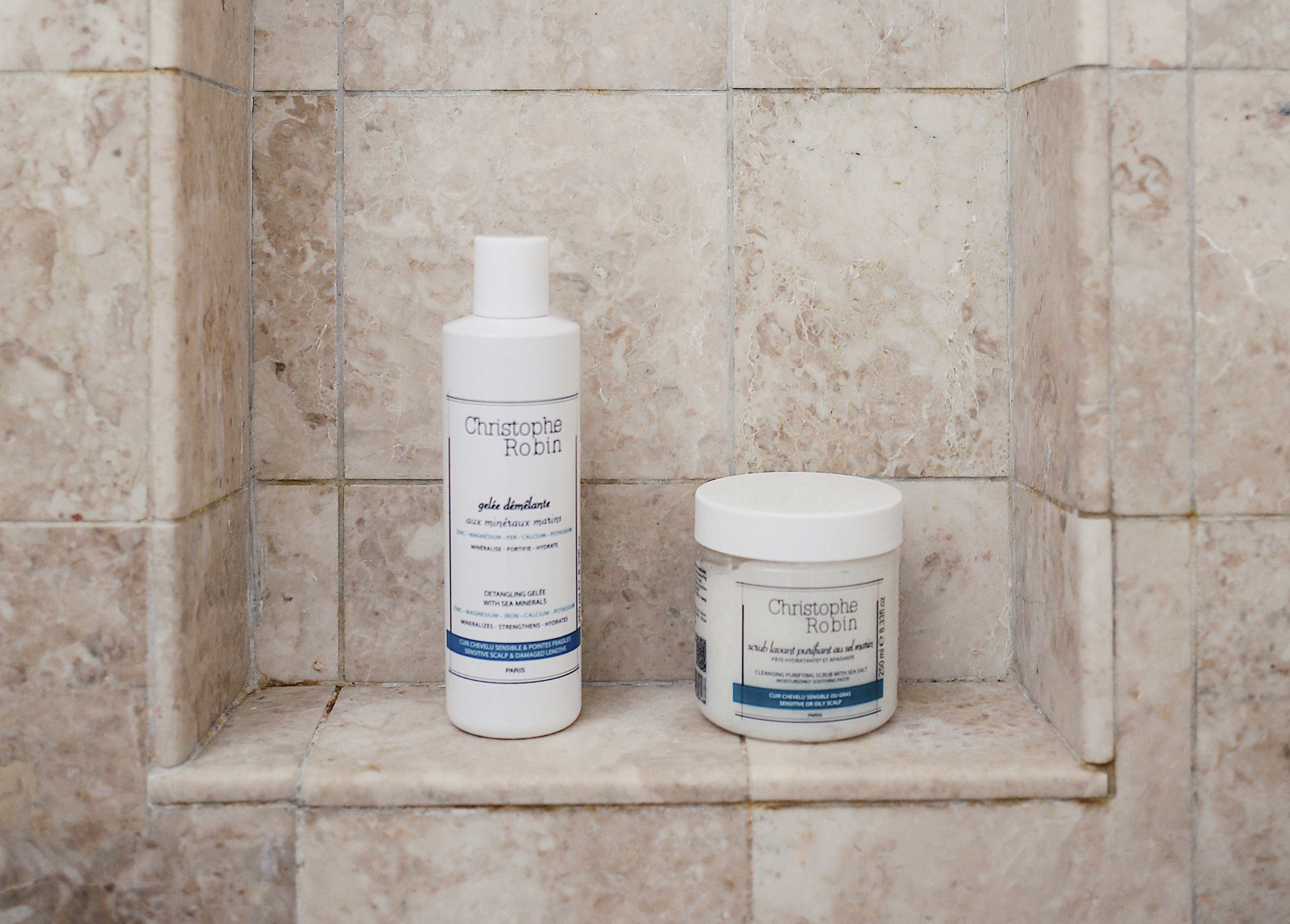My Christophe Robin Scalp Detox Ritual with the purifying sea salt scrub and detangling gelee with sea minerals. Get all the details of my weekly hair ritual and 20% off and free shipping at ChristopheRobin.com with my promo code Julia20