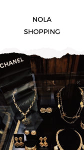 Shopping in New Orleans - Chanel Vintage jewelry at Vintage 329 at Royal Street French Quarter - New Orleans Travel Guide - NOLA City guide - by fashion blogger Julia Comil