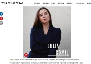 press french fashion influencer julia comil as seen in whowhatwear