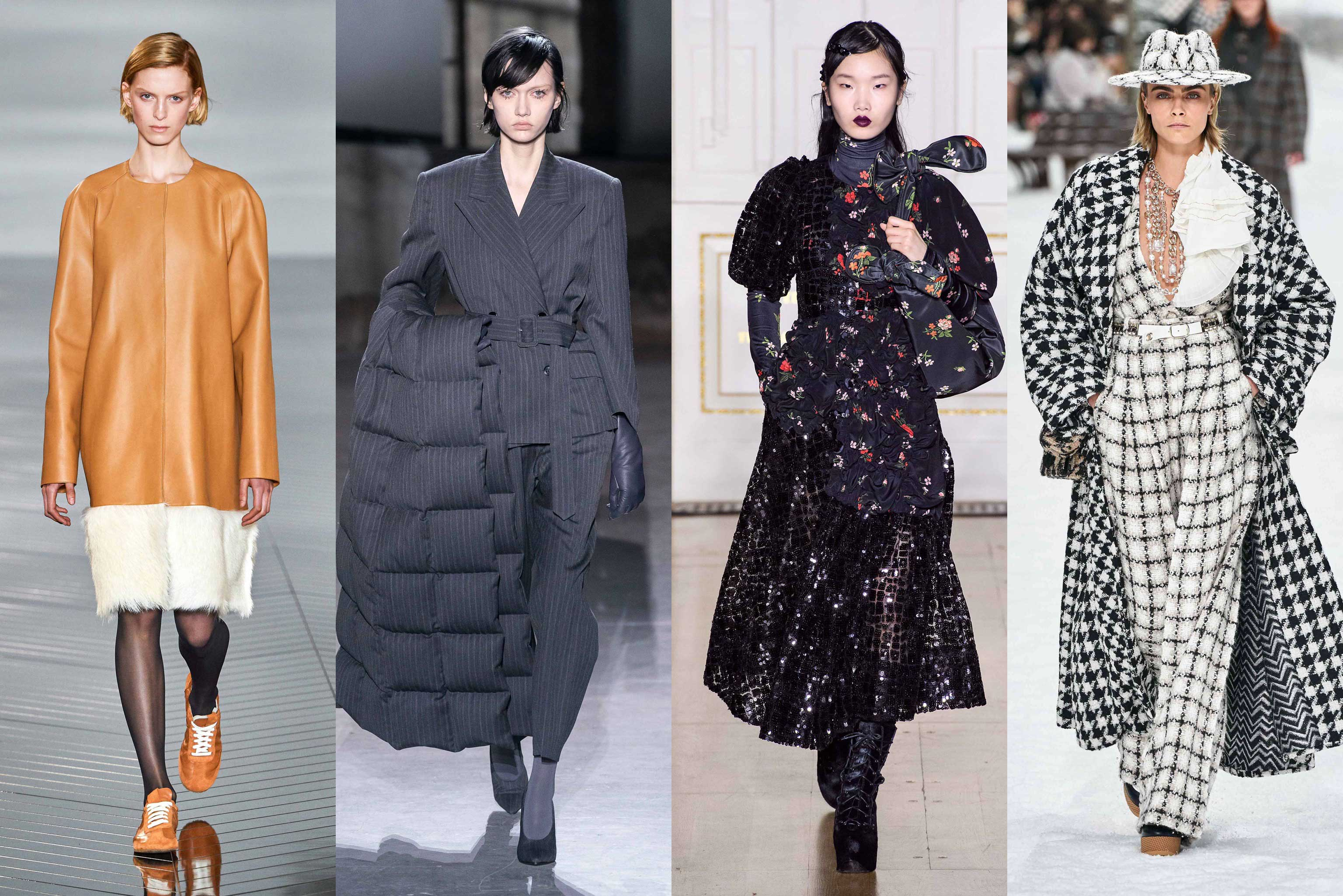 2019 Fall Winter Fashion Trends fall / 2019 fashion week report. Discover the biggest fall winter 2019 trends from New York, London, Milan and Paris fashion week on Modersvp.com/ Loewe, Dries Van Noten, Simone Rocha, Chanel