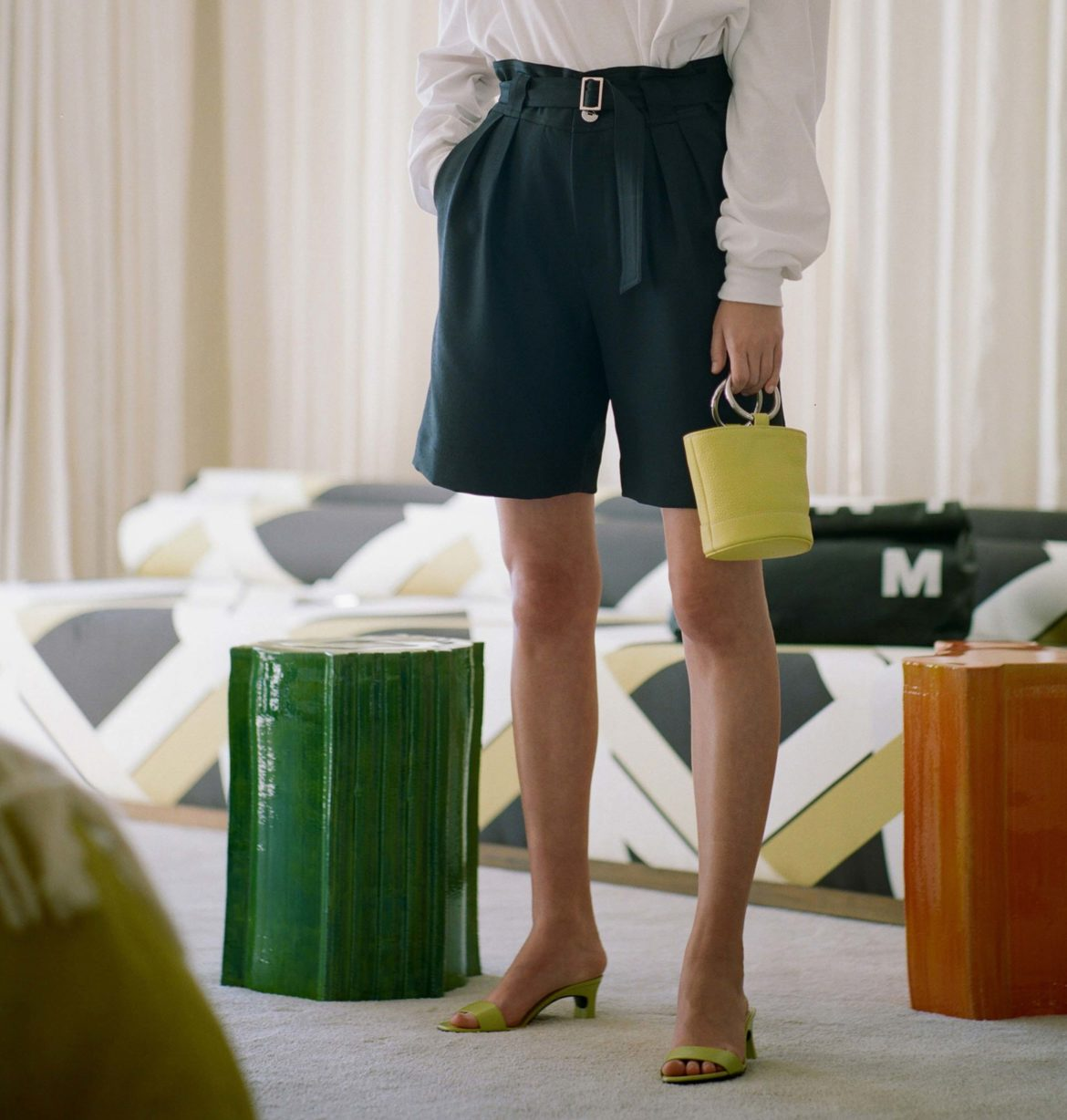 how to transition from summer to fall simon miller bermuda shorts square toe sandals