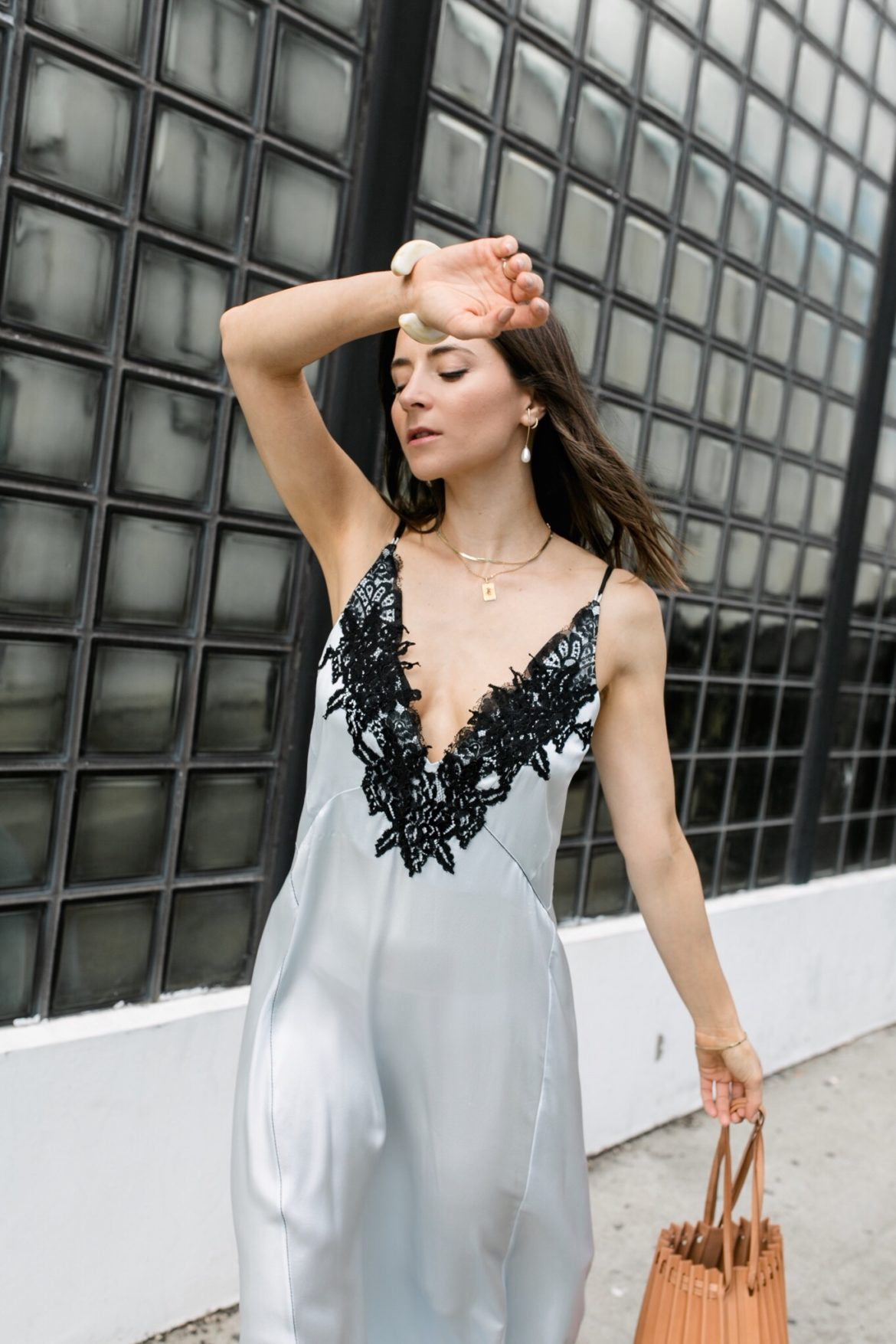 90's style: How to wear the satin slip dress - by los angeles fashion blogger julia comil. Wearing Dorothee Schumacher Satin Silk Slip Dress