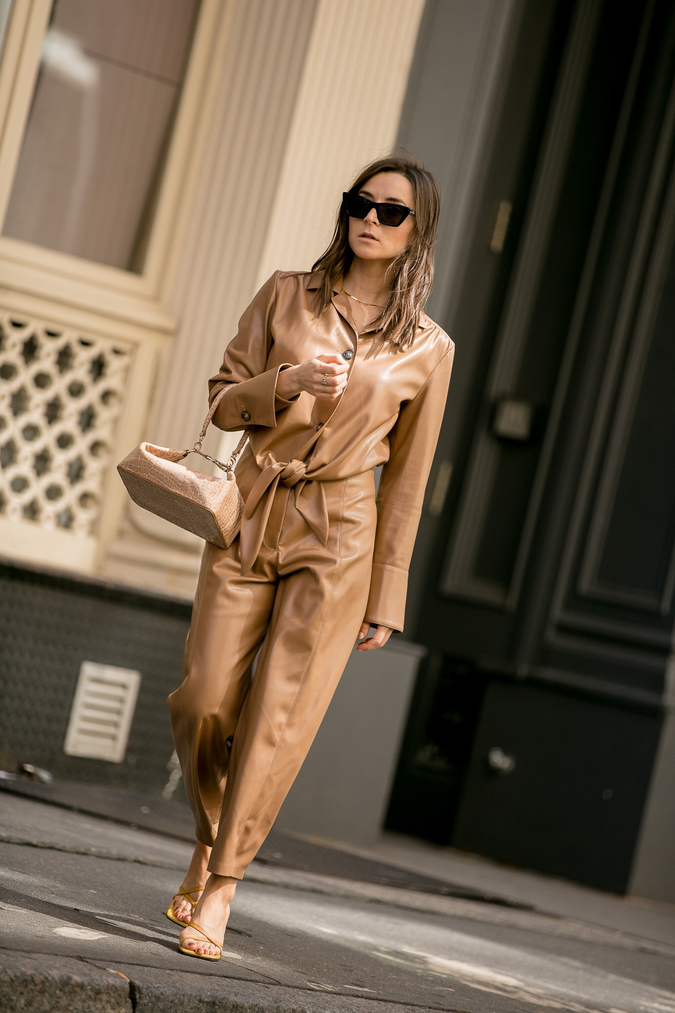 My favorite looks from NYFW to transition from summer to fall. Selection of some of my favorite items: bermuda shorts, leather trench coat, jumpsuit, hat, pink blazer via Farfetch, Italist, Milk Boutique and Net A Porter.