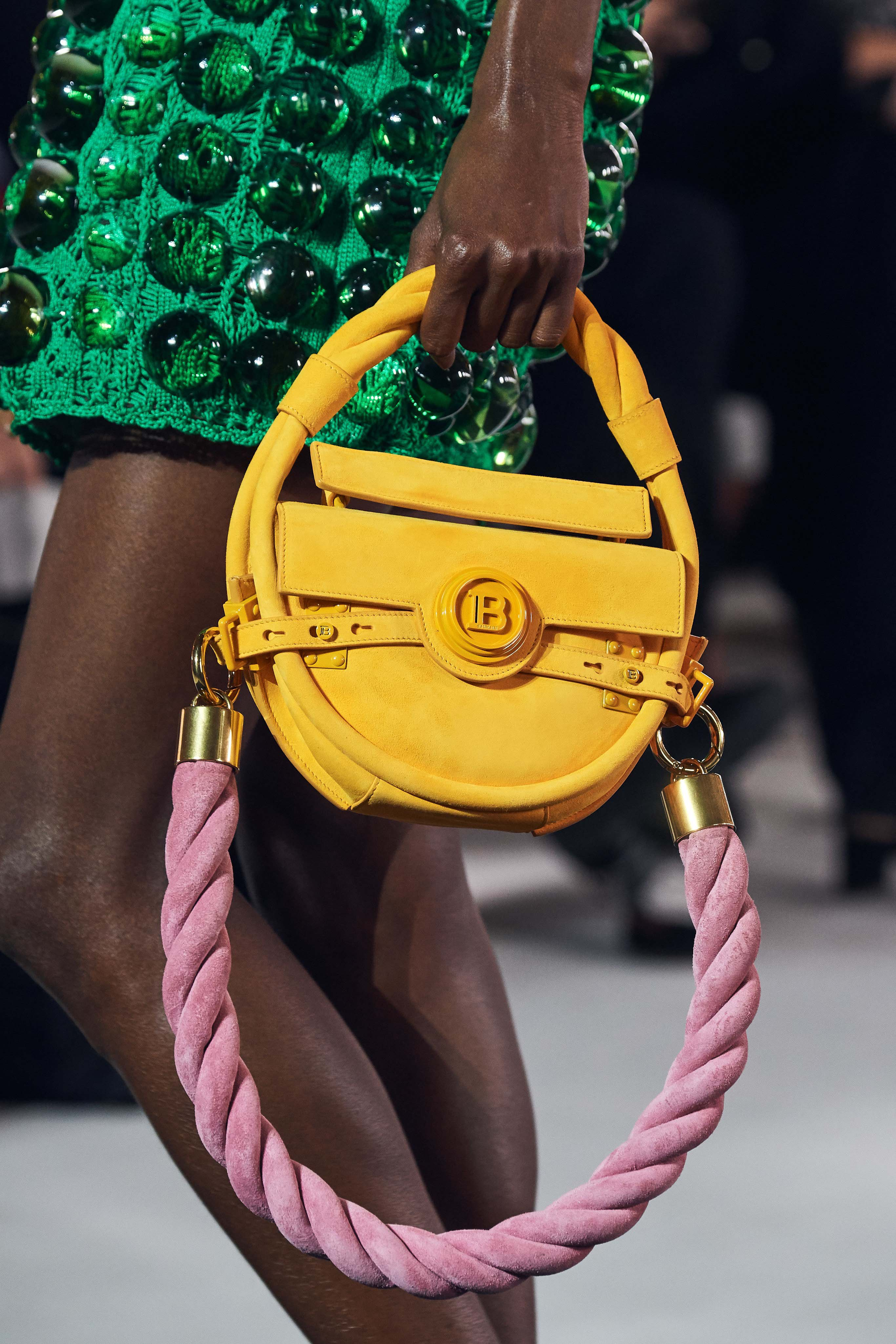 Balmain Spring Summer 2020 SS2020 trends runway coverage Ready To Wear Vogue bag