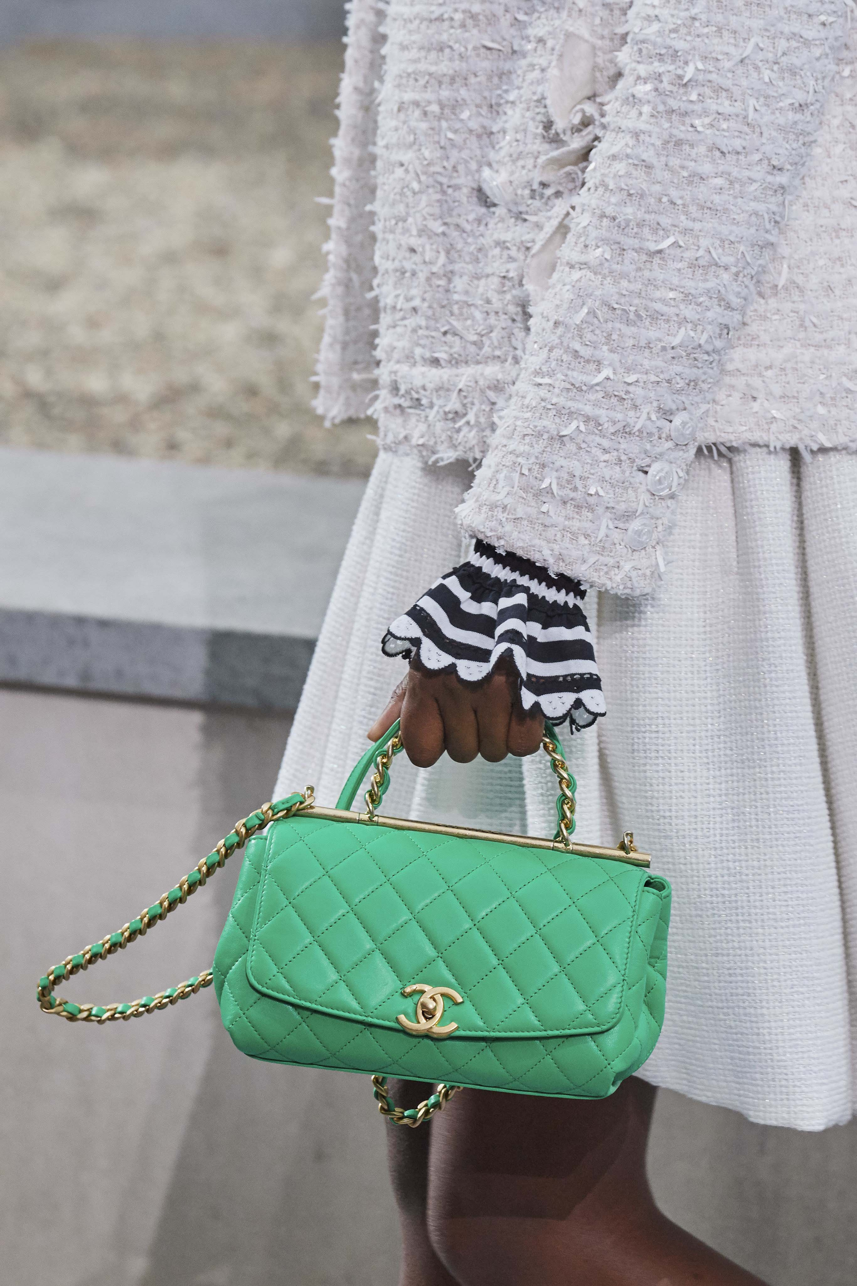 Chanel Spring Summer 2020 SS2020 trends runway coverage Ready To Wear Vogue bag green